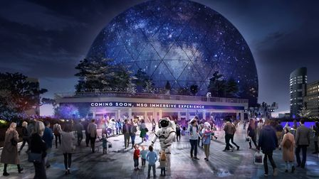 CGI image of the proposed MSG Sphere. Picture: MSG