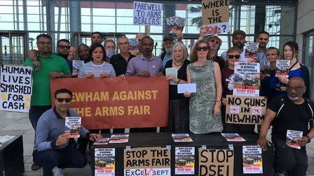 Campaigners were joined by Mayor of Newham Rokhsana Fiaz, who agreed to share their concerns about a