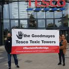 Habiba Alli and another campaigner outside Tesco in Goodmayes. Picture: Habiba Alli