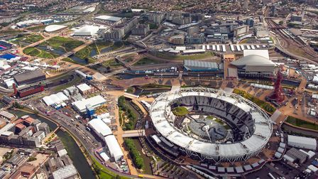 The Olympic Park in Stratford, as it looked in 2012. Picture: Dominic Lipinski/PA Archive