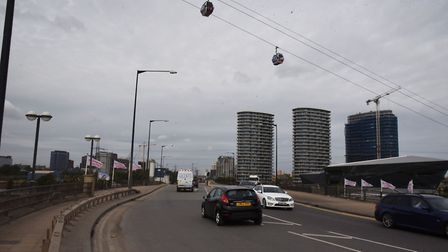 Silvertown Way on the approach to Canning Town. Picture: Ken Mears