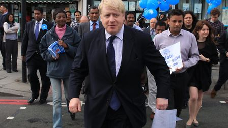 Boris Johnson came to Gants Hill before the general elections. Picture: Isabel Infantes