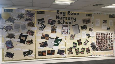 Kay Rowe Nursery School history display at The Gate library in Forest Gate. Picture: Andrew Brookes