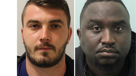 Alex Scurtu, 29, from Canning Town (left), jailed 5 years and Gift Mangava, 41, from Swanley, the 'b