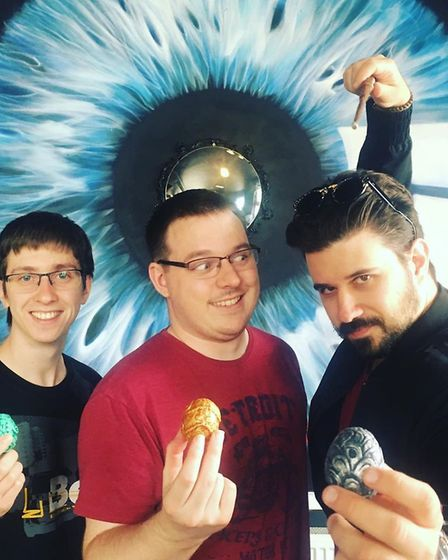 Stuart Harper, Chris Stanton and Stefano Pasotti tested the escape room, in which teams must collect