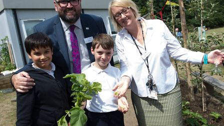 North Beckton Primary School recently hosted a grand opening event for its edible garden. Picture: E