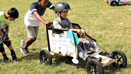 Newham's Terence Brown Arc team take 'best teamwork' prize with the Tier-X moon buggy. Picture: Lond