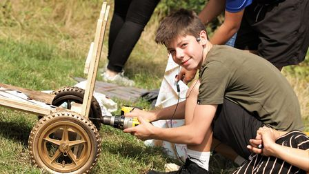 The youngsters have four hours to build their karts, some barely knowing a spanner from a screwdrive