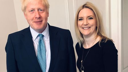 Prime minister Boris Johnson with Hornchurch and Upminster MP Julia Lopez. Picture: Julia Lopez