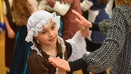 Children from Woods Loke primary school take part in a Tudor day.PHOTO: Nick Butcher