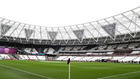 The London Stadium, home of West Ham United. Picture: Steven Paston/PA