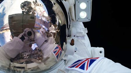 """British astronaut Tim Peake said he will never forget his """"exhilarating"""" first walk in space as he p"""