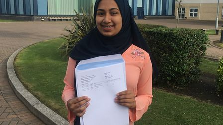 Brampton Manor Academy pupil Hridita Rahman Khan, with A*A*A, was one of more than 100 teenagers to