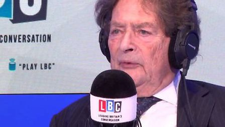 Lord Lawson on Iain Dale's programme (Photograph: LBC)