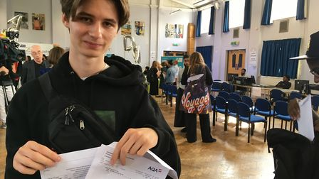 Joseph Strutt is off to Manchester University after getting ABB in politics, history and religious s