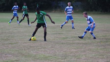 Action from Lopes Tavares' friendly with Ilford (pic: Akin Akinola).