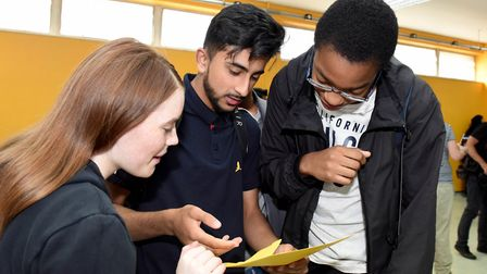 Eastlea Community School pupils collect their GCSE results. Picture: Arthur Comms