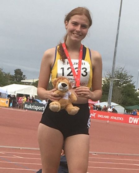 Havering's Rebecca O'Rourke won gold at the England Champs