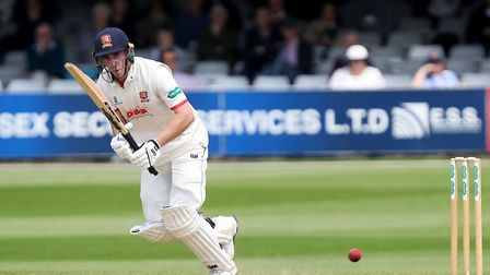Dan Lawrence in batting action for Essex (pic Nick Wood/TGS Photo)