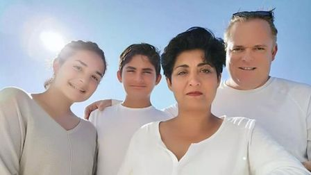 Sonia Klein, pictured here with her family, is hoping to be named Labour's next candidate in Ilford