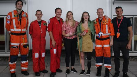 Michael Palmer, far right, with some of his fellow swimmers. Picture: London's Air Ambulance