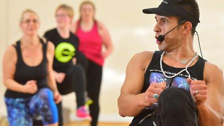 Chico takes a body fit class in Lowestoft. PHOTO: Nick Butcher