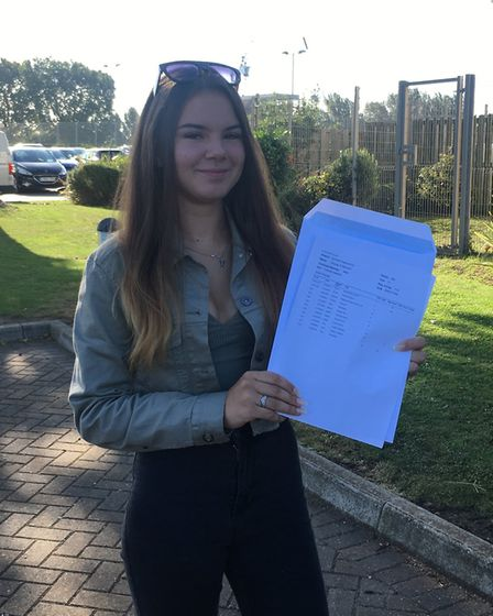 Brampton Manor Academy pupil Victoria Etingoff, 16, from Beckton, was delighted to achieved the GCSE