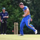 Louis Pickering of Upminster during Shenfield CC vs Upminster CC, Shepherd Neame Essex League Cricke
