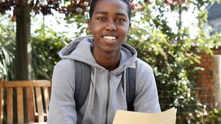 Forest Gate pupil Yusuf Salad got 11 9s in his GCSEs. Picture: Arthur Comms
