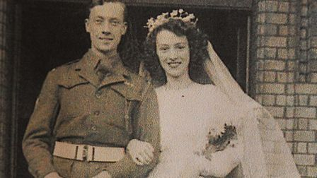 George and Phyllis Nutburn got married in 1946. Picture: Supplied