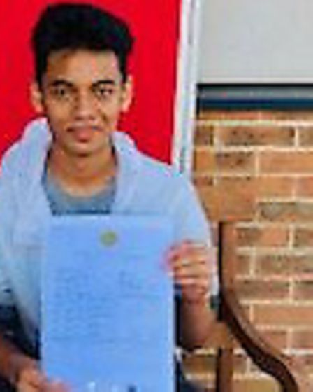 Eayasin Hossain achieved nine grades at 7 or above including a 9 in both maths and science and an A*