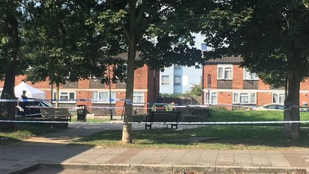 Chadd Green, Plaistow was cordoned off on Tuesday (August 27) as police cotinued to investigate the