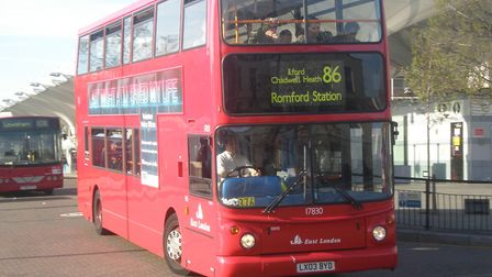 The 86 bus travels from Stratford, through Ilford to Romford and back again. Picture: Sean Quinn/Wik