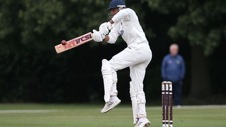 Merv Westfield in batting action for Hornchurch against Brentwood at the Old County Ground (pic: Gav