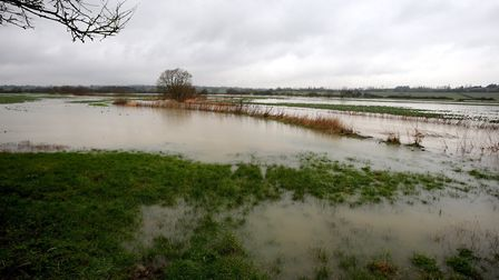 The River Roding in flood. Picture: Ken Mears