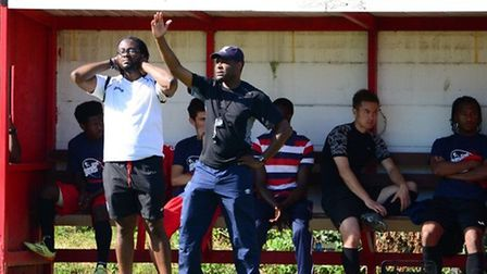 Chris Davis (left) is the new manager of Lopes Tavares (pic: Tim Edwards).