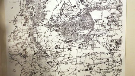 This map shows the Redbridge area in 1777. Picture: Ellie Hoskins