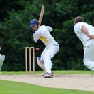 Jon O'Neill in batting action for Rainham in the T.Rippon Mid-Essex League (pic: Gavin Ellis/TGS Pho