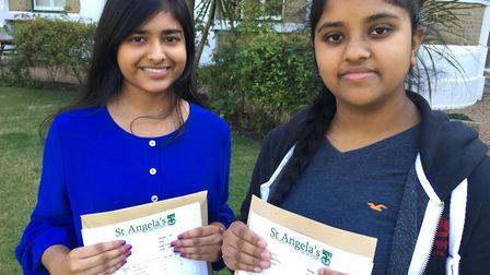 Alin Gonsalves and Tharsa Suriyakanthan plan to study A-levels next. Picture: Jon King