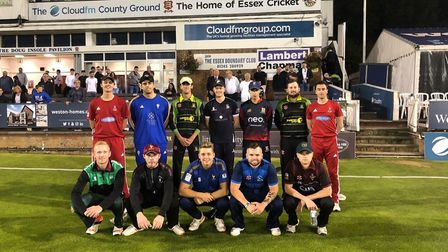 The Shepherd Neame Essex League under-25 XI before their match against the East Anglian Premier League at the County Ground