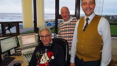 Observatory the Opticians optometrist Rene Moor with Colin Rutterford and Bill Jagger of the Blyth V