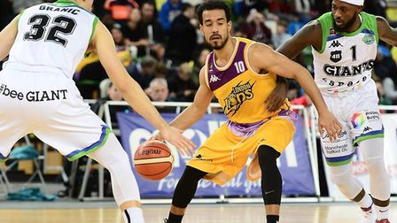 London Lions Justin Robinson in action against Manchester (pic Graham Hodges)