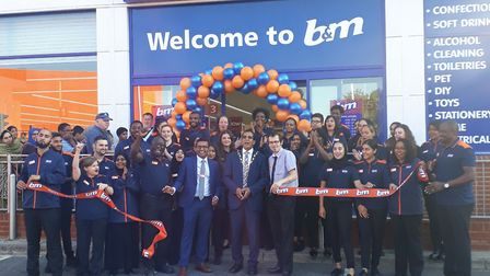 The launch at B&M Newbury Park. Picture: B&M
