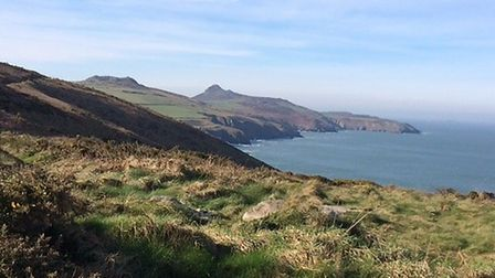 A view along the coast path in Pembrokeshire, west Wales.