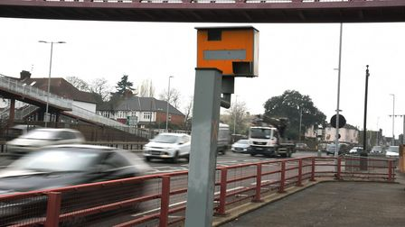 Traffic camera on the A12 in Wanstead