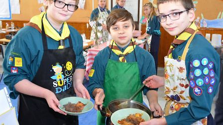 Lowestoft scouts annual cookery competition. 1st Pakefield. Pictures: MICK HOWES