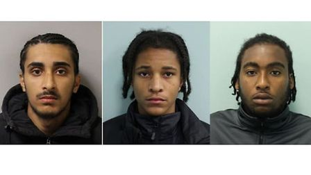Talib, Demontagnac and Young. Picture: Met Police