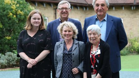 Jim Carter and Imelda Staunton with Richard House head of fundraising Clare Roche, chief executive C