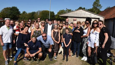 Family and friends of Jake Morgan at the event. Picture: Ken Mears