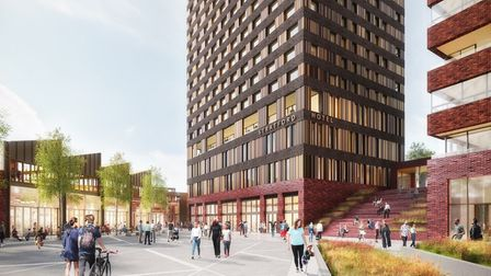 The proposals will deliver 423 new homes, including 35 per cent affordable housing. Picture: AHMM Ar